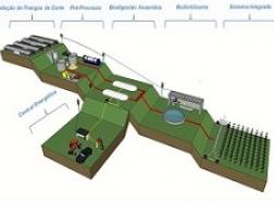 Planta em 3D do sistema modelo para aproveitamento energético de cama de frangos de corte